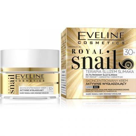 Eveline Royal Snail Krem aktywnie wygładzający 30+ dzień/noc 50 ml