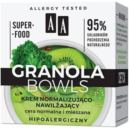 AA GRANOLA BOWLS krem nawilżający detox cera norm/miesz 50 ml