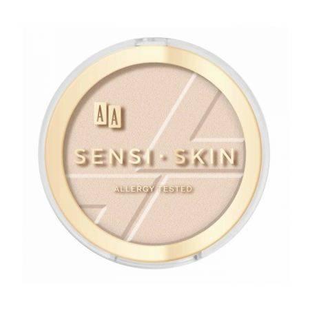AA Sensi Skin Matujący puder prasowany 01 Transparent 9g