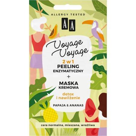 AA VOYAGE 2w1 peeling grubozi.+maska papaja&ananas 2x5ml