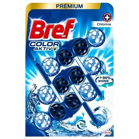 BREF COLOR ACTIV+ Zawieszka do WC 3X50g CHLORINE