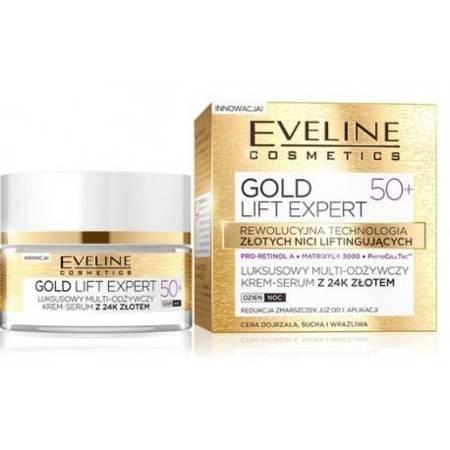Eveline Gold Lift Expert 50+ Multi-odżywczy krem 24k złota dzień/noc 50ml